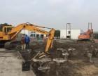 上海叶榭现代130挖掘机出租,挖土机出租带破碎