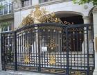 红桥区定制铁艺护窗天津别墅铁艺大门工程安装