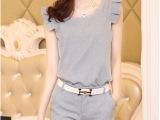2014夏季新款韩版OL棉麻无袖上衣短裤两件套套装