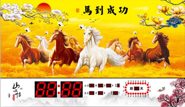 石家庄LED数码电子万年历电子钟表生产厂家