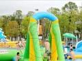 夏季水上游乐设施 儿童充气滑梯组合 可拆装游泳池 厂家直销