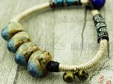 景德镇陶瓷饰品手镯批发手链 仿古手工揉珠手链【JXB053】