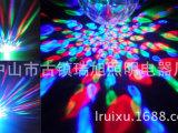 厂家直销LED声控迷你七彩旋转水晶魔球舞台激光灯夜市跳舞灯