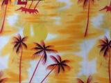 厂家批发 环保夏威夷椰树风格服装布料 100%全棉夏威夷椰树布料