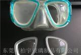 厂家订制450度钢化防雾潜水镜近视镜片玻
