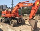 工地停工转让 斗山150胶轮挖掘机 欲购从速!