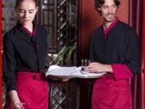 定做饭店服务员工作服装 男 中西餐厅工作服长袖 酒店餐饮制服 女
