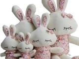疯抢超人气可爱 LOVE兔天使兔小兔子公仔圣诞礼物