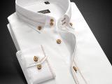 春秋衬衫新款纯棉男式长袖衬衫修身纯色抗皱