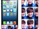 iphone5彩膜 苹果5卡通膜 浮雕夜光手机保护膜 彩色贴膜送