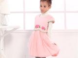 时尚富迪熊品牌女童装 女童旗袍裙 冬装新童裙 广东产地 T606