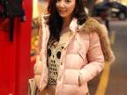 韩国代购秋冬装连帽毛领短款棉衣加厚羽绒棉服外套修身小棉袄