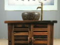 老船木茶桌椅组合中式客厅实木茶桌仿古茶台功夫泡茶几船木流水架