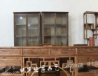 仿古办公桌实木写字台大班台大班桌中式雕花书桌榆木明清画桌画案