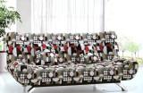 田园布艺沙发帆布多功能沙发床1.5米双人