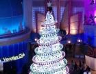 灯光节花海花灯商业美陈玻璃钢花车大型圣诞树