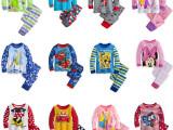 新款 冰雪奇缘 米老鼠 汽车总动员 儿童纯棉家居服长袖睡衣 外贸
