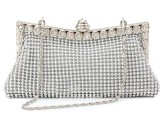 时尚韩版小清新铝片手拿包JI02 银色 手拿包
