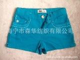 外贸少量 有绣花低价简约休闲款 纯棉中大童短裤
