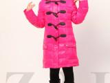 2014秋冬新款儿童棉衣 连帽加厚长款羽绒服 羽绒内胆外套T09
