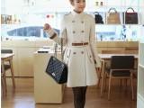 细节实拍2014新款秋冬装款韩国修身腰带羊绒毛呢大衣