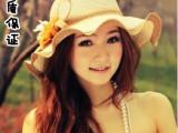 韩版 新款时尚沙滩帽女帽波浪边草帽遮阳防晒女士帽子渡假花朵帽
