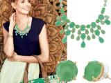 欧美 首饰批发 sd  新款 春之绿项链耳钉套装