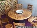 厂家直销:火焰鹅餐厅桌椅,醉鹅餐厅桌椅,农庄桌椅,碳化桌椅快