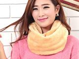 秋冬新款羊羔绒围巾围脖男女冬天套头脖套韩版秋冬季围巾