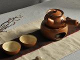 道尚堂粗陶茶具套装 复古风格温水壶 酒精炉 可加热陶瓷茶壶 预售