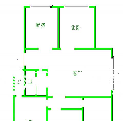 水清沟清水苑 4室1厅115平米 简单装修 年付_青岛租房