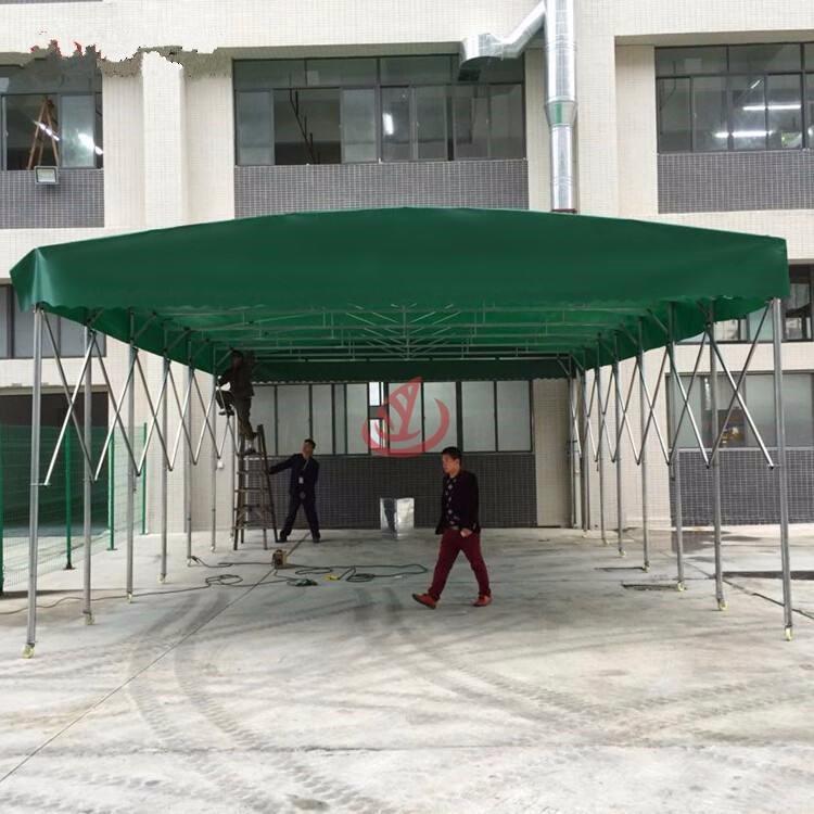 广西定制活动帐篷汽车帆布篷大型仓库雨篷推拉工地篷移动车棚