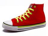 新款时尚透气舒适女式帆布鞋 系带高帮潮流百搭学生帆布鞋