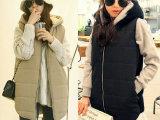 时尚休闲高端韩版SZ加厚保暖女式棉衣|中长款连帽棉马甲背心683