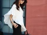 【大额批发】2013新款韩版 单肩飘逸上衣 女士纯色上装新款