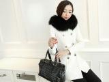 2014冬季新款加厚呢大衣甜美修身呢子大衣中长款毛呢外套女