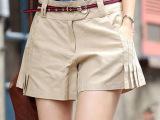 一件代发夏款女装女裤韩版学院风休闲高腰短裤裙裤热裤裙裤送腰带