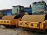 金展路出租18吨单钢轮压路机/钢板道板租赁拉森桩施工租赁