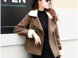 25.8块女装全新毛呢外套 中长款女毛呢大衣 女风衣批发
