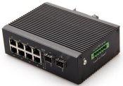 千兆2光8电工业级POE网络交换机工业级光纤交换机5年质保