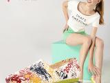 新款狐客女士帆布鞋 韩版低帮涂鸦懒人鞋女