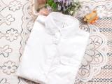 2014新款春装日系森女百搭纯白色娃娃元宝领白衬衫女长袖棉衬衣女