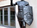 保成铜器战神欧式仿铜战神人物雕塑战士摆件彩绘人物铸铜销售