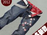 男式牛仔裤 时尚潮人韩版修身牛仔长裤男 批发水洗广州增城牛仔