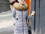 棉衣女2014冬季时尚女装棉衣批发中长款修身加厚大码羽绒棉服外套