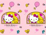 hello kitty包厢主题墙纸/KT猫主题背景/姿彩壁画