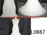 L0667经典鱼尾婚纱 唯美浪漫新娘礼服 欧美原单定制 番禺厂家