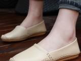 2014新款欧美风平跟平底豆豆鞋潮女真皮舒适单鞋孕妇休闲开车瓢鞋