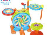 汇乐浙江省总代理批发666动感爵士鼓 儿童益智音乐玩具 敲打玩具
