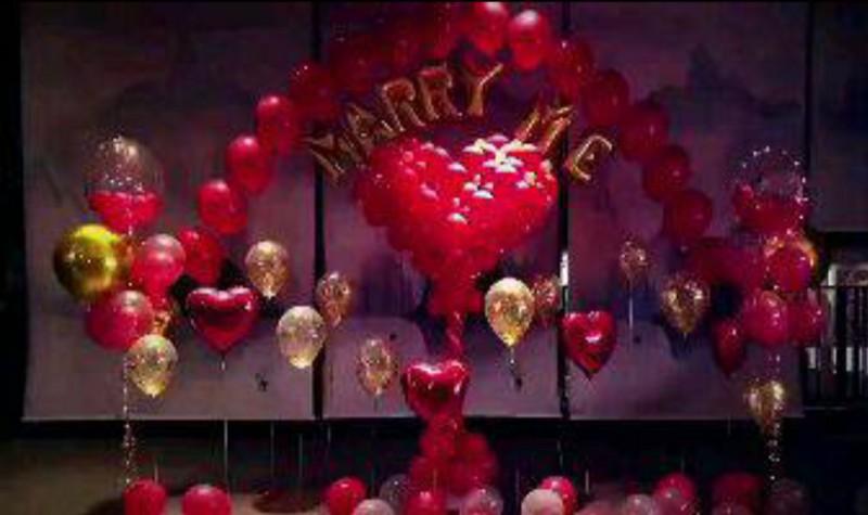 长春地爆球 开业婚礼地爆球 气球布置婚房婚礼拱门